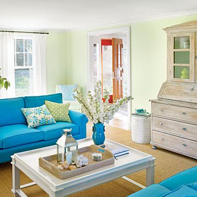 Bright And Bold Coastal Colored Furniture Tuvalu Home