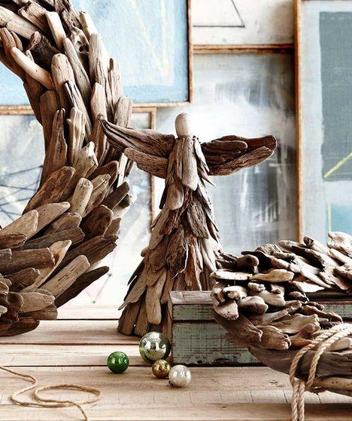 Driftwood angel christmas decor